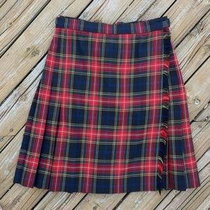 VINTAGE 80s Classic Plaid Wrap Skirt
